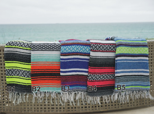 BLANKET - MEXICAN STRIPED BLANKET