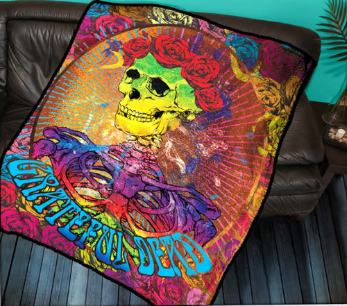 GRATEFUL DEAD THROW BERTA ROSES VINTAGE