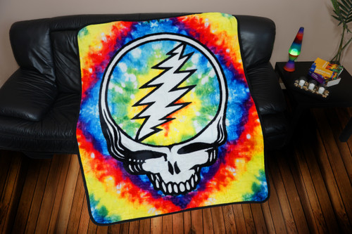 GRATEFUL DEAD THROW STEAL YOUR FACE TIE DYE