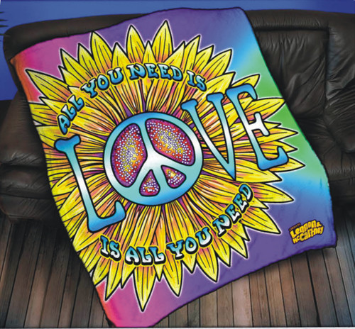 LM All You Need Is Love Throw