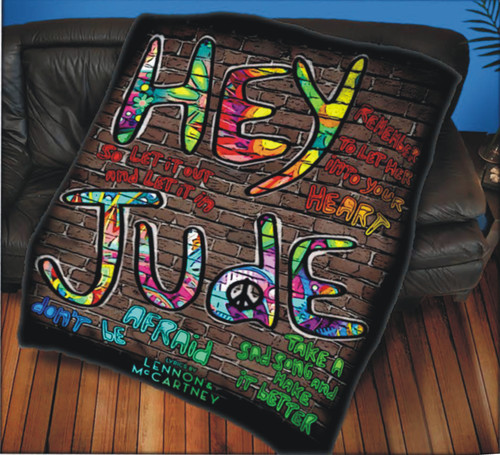 LENNON & MCCARTNEY THROW HEY JUDE WALL ART