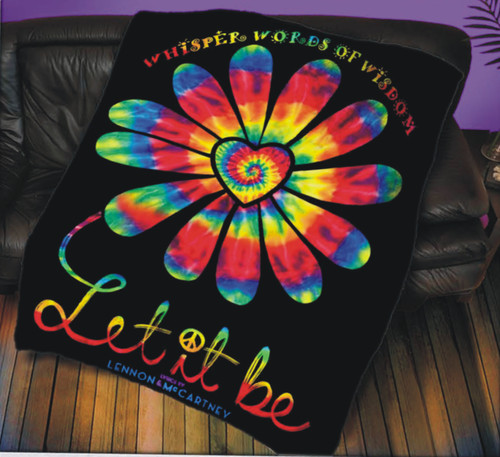 LM Let It Be Flower Power Throw