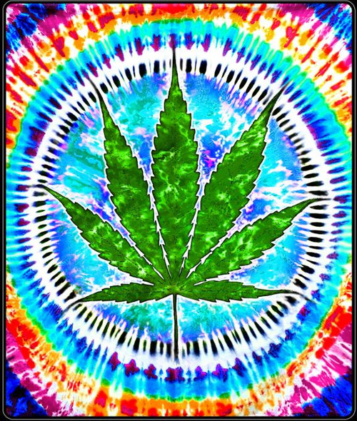 420 THROW RASTA LEAF TIE DYE