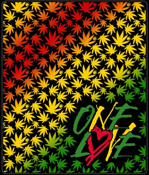 RASTA ONE LOVE THROW