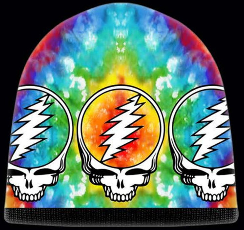 GRATEFUL DEAD BEANIE STEAL YOUR FACE TIE DYE