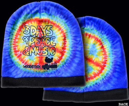 WOODSTOCK BEANIE PEACE SIGN
