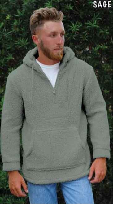 Solid Sherpa Pullover