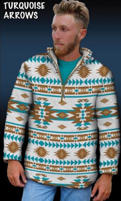 Sherpa Printed Pullover