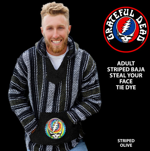 GRATEFUL DEAD STRIPED BAJA STEAL YOUR FACE