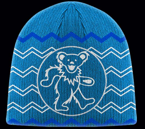 GRATEFUL DEAD BEANIE KNIT BLUE
