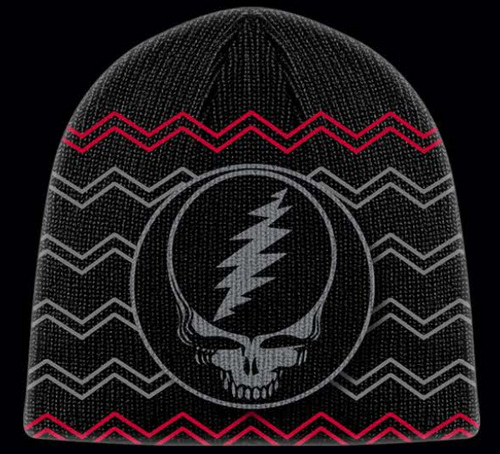GRATEFUL DEAD BEANIE KNIT RAINBOW BLACK