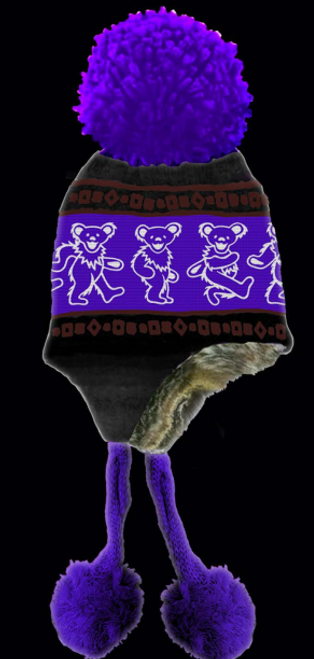 GRATEFUL DEAD HAT DANCING BEARS PURPLE