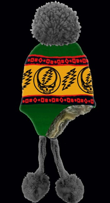 GRATEFUL DEAD HAT STEAL YOUR FACE RASTA