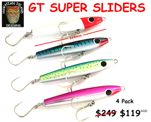 GT SUPER SLIDER POPPER  Hawaiian Island Designs  4 pack