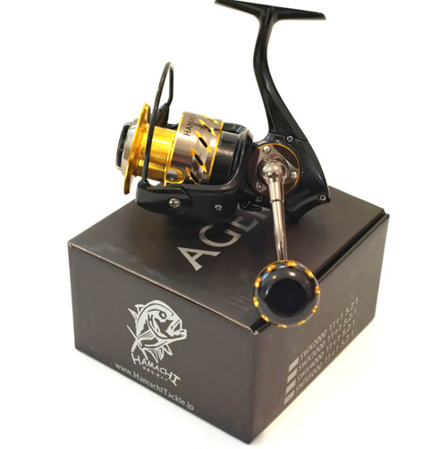 HAMACHI - AGERA 4000swx Spin Jigging fishing Reel PE 2 3 + bonus spare spool and braid
