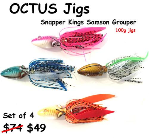 Hamachi Octus jigs 100 gram Fully rigged set of 4