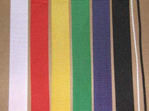 1 inch wide nylon strap (black, red, yellow, blue, green, white, grey)