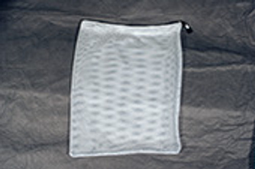 White Polyester Mesh Drawstring Bag