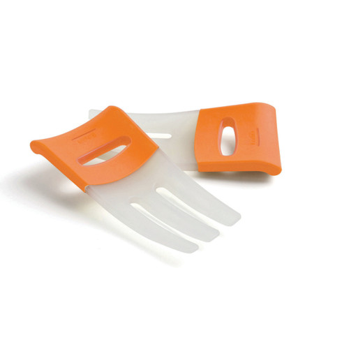 Ideal for tossing, scooping, and serving salads, pasta, and more! These uniquely designed salad hands with rubber grip handles keep hands from slipping into the bowl.