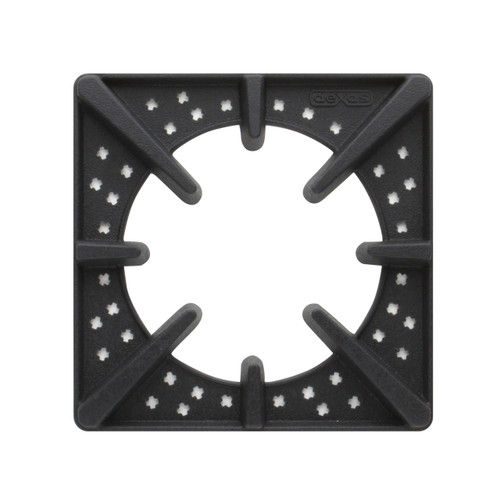 """Sits 3/4 inch off of tabletops to allow complete dispersion of heat. Size: 7.375"""" x 7.375"""". 500F degree heat resistant. Heavy weight silicone trivets to hold heavy duty cast iron skillets, big broilers, even hot pizza stones."""