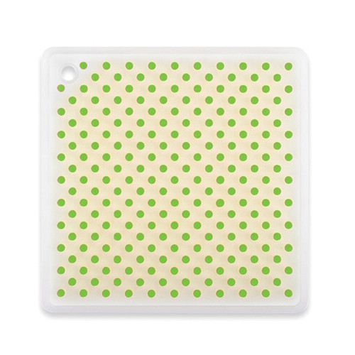 """Size: 7"""" x 7"""" • Can be used as a pot holder, jar opener, hot pad & spoonrest • Protects countertops, non-slip, stain-resistant • Designed to safely handle high heat • Stain and odour resistant • Dishwasher-safe"""