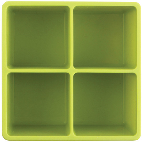 """Size (per): 4.25"""" x 4.25"""" x 2.75 • Trays stack into a vertical cube to take less space in freezers than traditional ice trays • Trays fit easily into wet bar minifreezers • Easily create custom flavoured ice cubes to compliment any drink • Dishwasher-safe"""