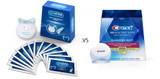 CREST WHITESTRIPS BLUE LIGHT KIT vs GLOWHITE WHITENING STRIPS: A COMPARISON