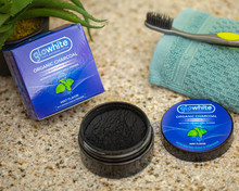 Glowhite ACTIVATED COCONUT CHARCOAL POWDER with BAKING SODA and PEROXIDE