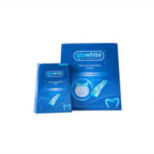 Glowhite  Professional Strength Teeth Whitening Strips Refills Twin Pack 2 X 28 for use with L.E.D. Blue Light Timer