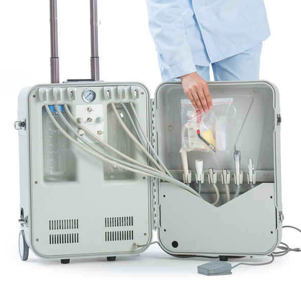 ABS Travelling Casing Electricity Mobile Suction Chair Price Manufacture Portable Dental Unit II