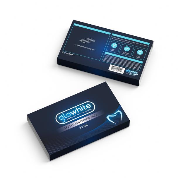 Glowhite Professional Strength Peroxide Teeth Whitening Gel Refill Pens Kit for LED Dual Light Kit