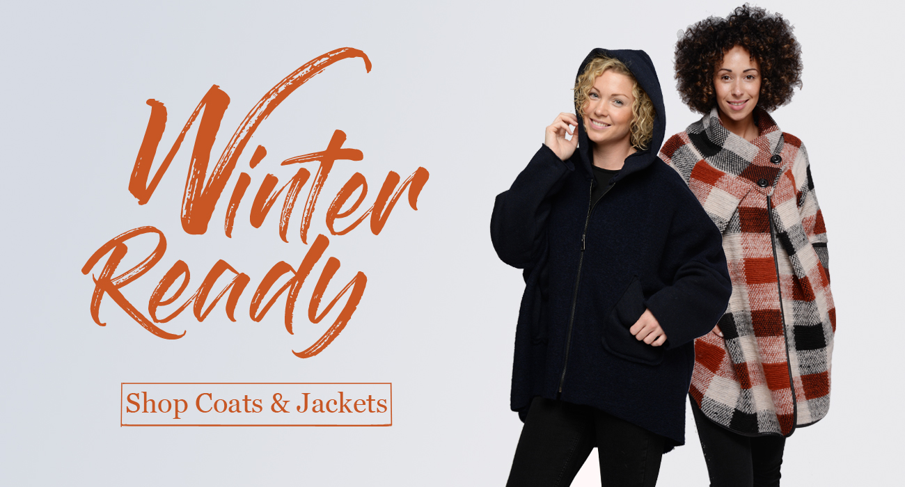 Get winter ready with our ladies' jackets and coats
