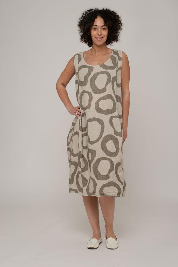 Ladies' Circle Print Italian Dress