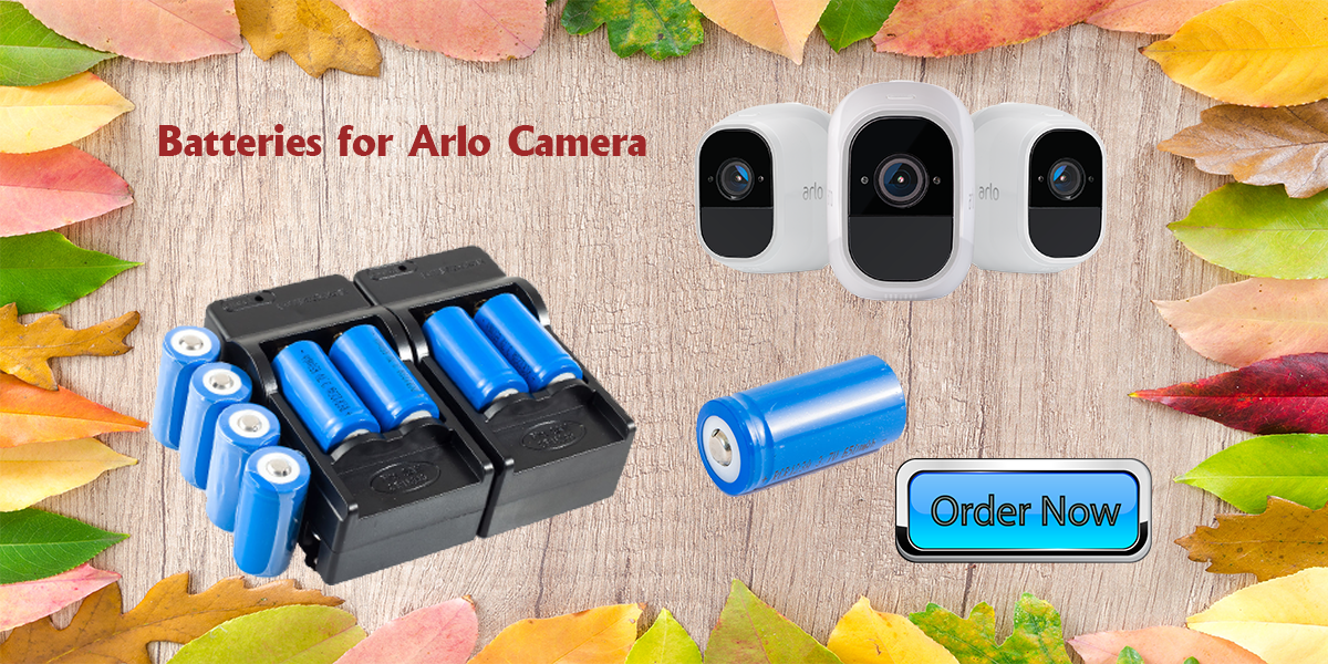Batteries and Chargers for Arlo security cameras
