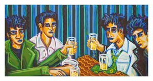 "After Hours, 24"" x 48"" acrylic on canvas by Jordan Hockett."