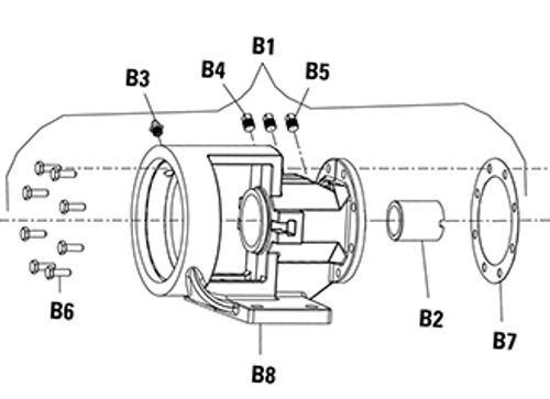 Bracket Bushing (B2) for Viking PN. 2-109-003-880-00 , Viking Pump Model H & HL