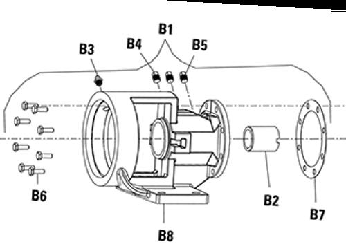 Bracket Gasket (B7) for Viking PN. 2-313-001-806-15 Viking Pump Model H & HL