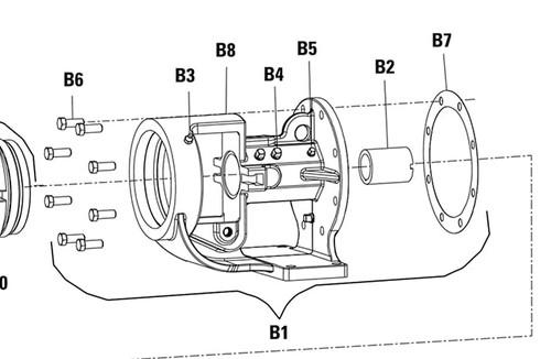 Bracket Assembly (B1) for Viking PN. 3-077-390-080-00 Viking Pump Model K & KK