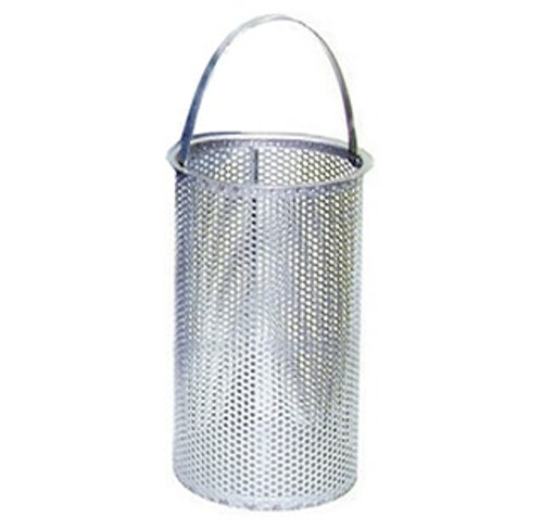"""1/4"""" Perforated Replacement Basket for Eaton Model 72 Strainer Size 2"""""""
