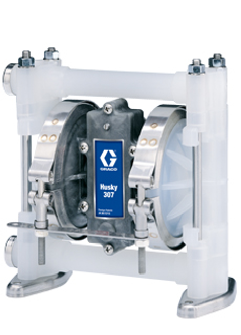 "D32277 3/8"" Graco Husky 307 Air Operated Double Diaphragm Pump"