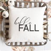hello fall throw pillow