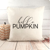hello pumpkin fall throw pillow
