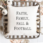 Fall Family And Football Pillow Cover