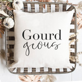 gourdgeous throw pillow