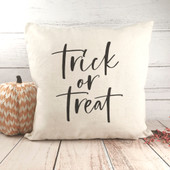 trick or treat fall throw pillow