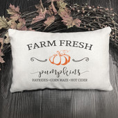 farm fresh pumpkin lumbar pillow