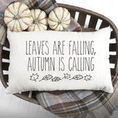 leaves are falling autumn is calling pillow