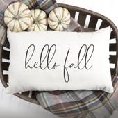 hello fall lumbar pillow