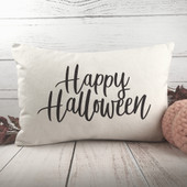 happy halloween lumbar throw pillow
