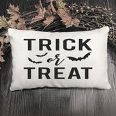 trick or treat lumbar pillow cover
